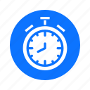 business, circle, economy, finance, payment, stopwatch icon