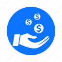 business, circle, economy, finance, of, payment, waste icon