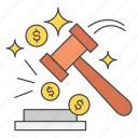 auction, business, cash, finance, money icon