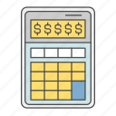 business, calculator, cash, finance, money icon