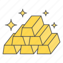 business, cash, finance, gold, money icon