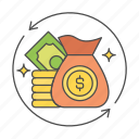 business, cash, finance, investment, money icon