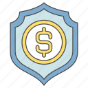 business, cash, finance, money, protection icon