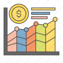 business, cash, finance, money, statistic icon