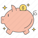 bank, business, finance, money, piggy icon