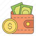 business, cash, finance, money, wallet icon