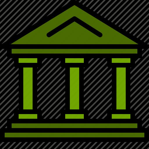 bank, cash, dollar, finance, money, state icon