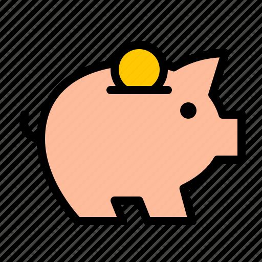 bank, cash, coin, finance, money, pig icon