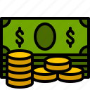 bank, bill, coin, currency, dollar, finance, money icon