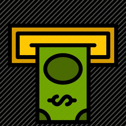atm, bank, cash, cashout, dollar, finance, money icon