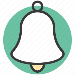 alarm bell, alert, bell, church bell, school bell icon