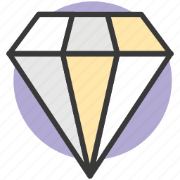 diamond, gem, jewel, jewelry, mineralogy icon