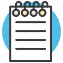 document, lead pencil, note, paper, write icon