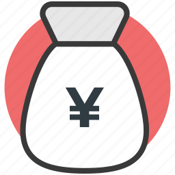japanese yen, money sack, yen currency, yen sack icon