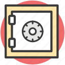 bank safe, bank vault, money box, safe box, storage icon