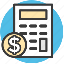 accounting, calculating device, calculator, digital calculator, mathematics icon
