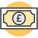 british pound, currency, money, pound, pound note icon