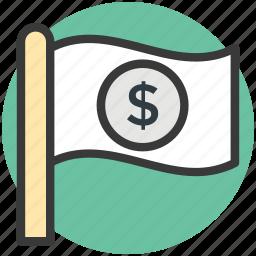 business flag, ensign, flag, flag economy, flag signal icon
