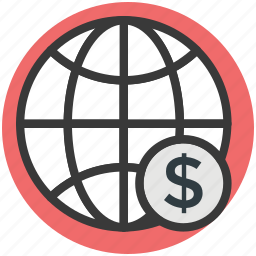 globe, internet grid, planet, world map, worldwide icon