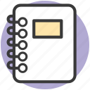 steno pad, logbook, notebook, notepad, notepaper icon