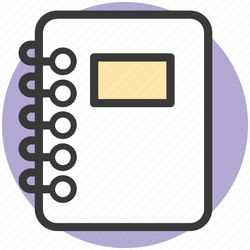 logbook, notebook, notepad, notepaper, steno pad icon