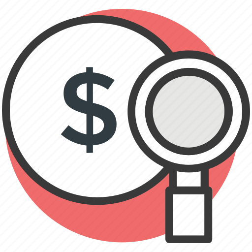 dollar, magnifying, search, search dollar, usd dollar icon
