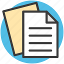 documents, file editing, text sheet, word sheet, writing sheet icon