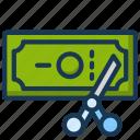cash, cut, dollar, money, tax, vat