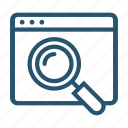 ceo, magnifying glass, search, zoom icon icon