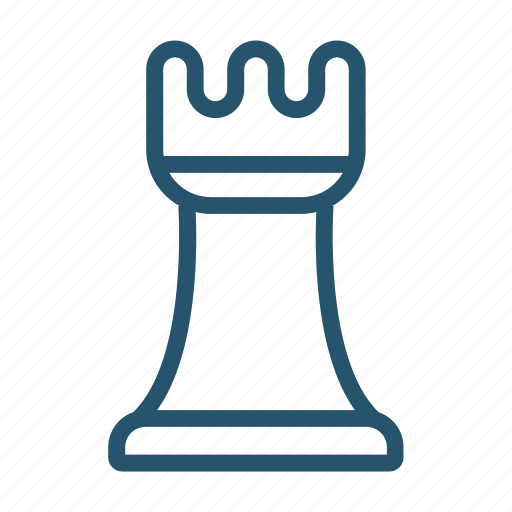 ceo, chess, game, game piece, rook icon icon