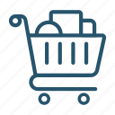 shopping, store icon, cart, meanicons icon
