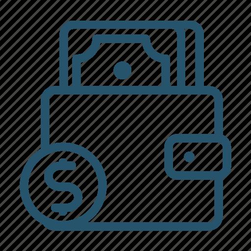 cash, fees, money, purse, shop, spend icon d icon