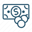cash, currency, finance, money icon icon