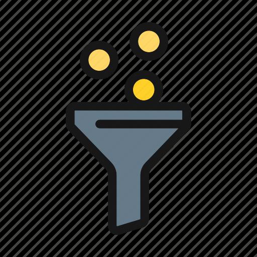 ceo, filter, funnel, liquid funnel, tube icon icon
