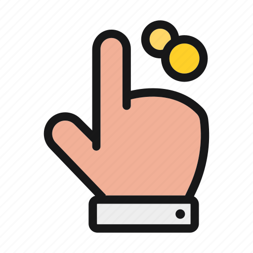 ceo, click, finger, hand, interaction, touch icon icon