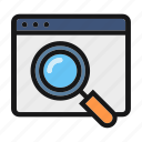 ceo, find, magnifier, optimization, search icon icon