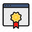 award, badge, ceo, prize, ribbon icon icon