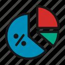 analytics, chart, computer analytics, graph sc, pie chart, pie graph icon