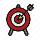 ceo, dart, focus, sport, target icon icon