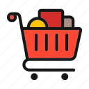 cart, meanicons, shopping, store icon icon