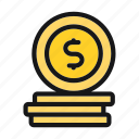 ceo, coin, currency, finance, money icon icon