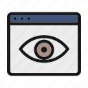 ceo, eye, public, publish, seen icon icon