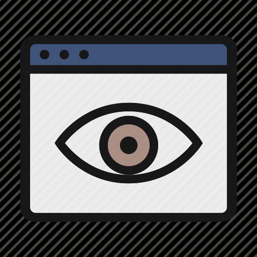 ceo, eye, public, publish, seen icon icon