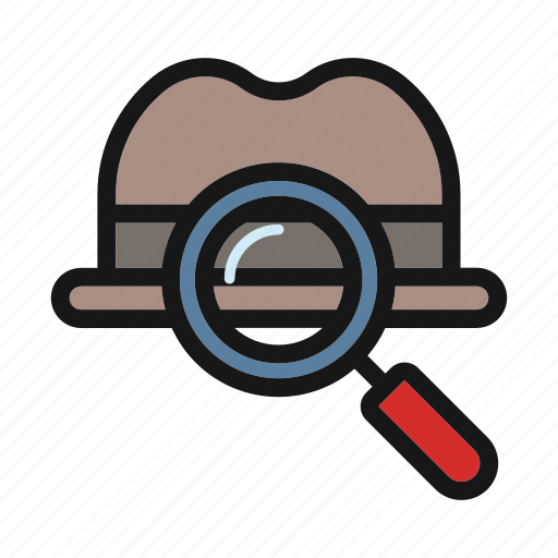 ceo, glass, magnifier, search, tool icon icon