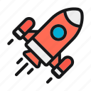 astronaut, astronomy, rocket, space icon