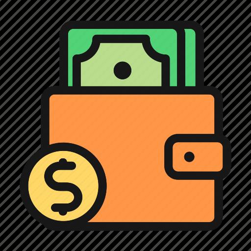 cash, fees, money, purse, shop, spend icon