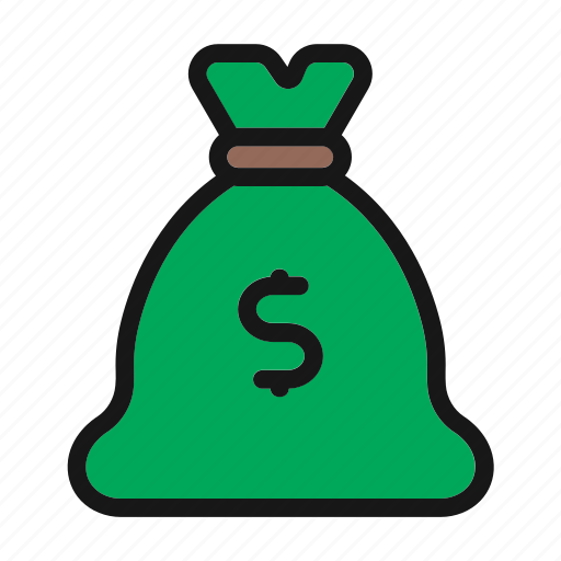 bag, bank, coins, finance, money icon