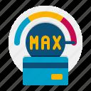 credit, limit, maximum icon