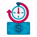 cash, is, money, time icon