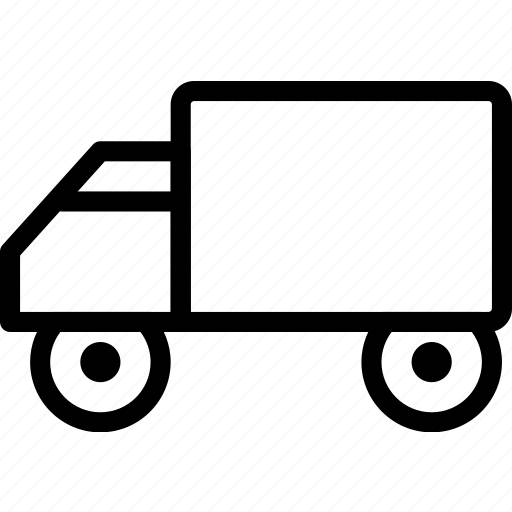 car, delivery, plain, truck, vehicle icon